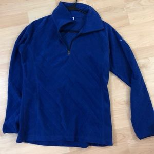 Like new blue quilted Columbia zip up
